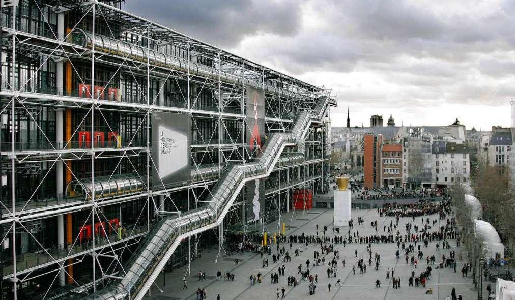 The Centre Pompidou art factory in the Paris suburbs
